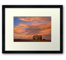 Little House On The Colorado Prairie Framed Print