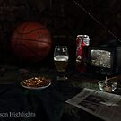 Basketball with Cigar and Beer by FrankSchmidt