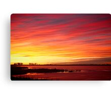 Sunrise over Union Reservoir in Longmont Colorado Boulder County Canvas Print