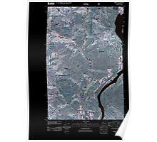 USGS Topo Map Washington State WA Azwell 20110505 TM Inverted Poster
