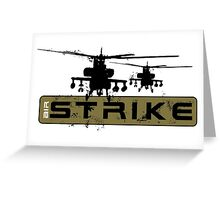 AH-64 Apache Helicopters Air Strike Greeting Card