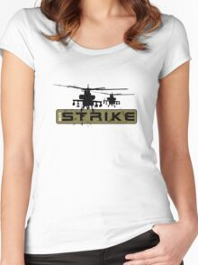 AH-64 Apache Helicopters Air Strike Women's Fitted Scoop T-Shirt