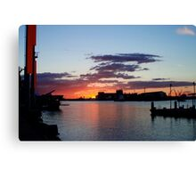 Industrial Harbour Canvas Print