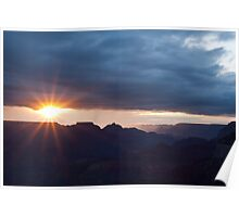 Sunrise On The South Rim  Poster