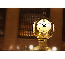 NY - Grand Central Time Photographic Print