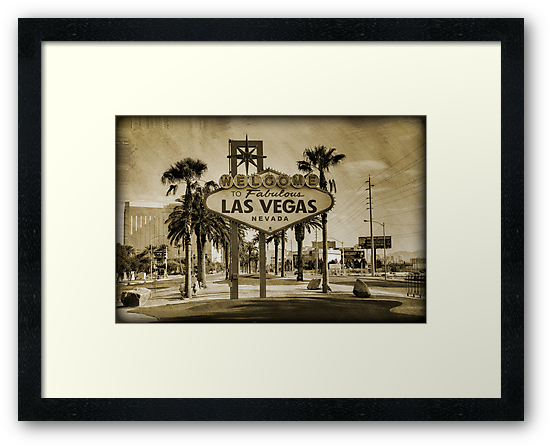 Welcome To Las Vegas Sign Series 2 of 6 Sepia Grunge by RickyBarnard