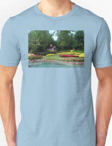 English Style Cottage With Landscaped Pond Unisex T-Shirt