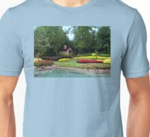 English Style Cottage With Landscaped Pond Unisex T-Shirt