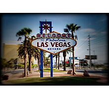 Welcome To Las Vegas Sign Series 4 of 6 Holga Color Photographic Print
