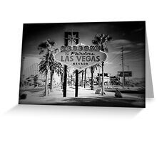 Welcome To Las Vegas Sign Series 5 of 6 Holga Infrared Greeting Card