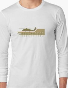 Black Hawk Helicopter Long Sleeve T-Shirt