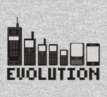 Cell Phone Evolution One Piece - Long Sleeve