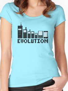 Cell Phone Evolution Women's Fitted Scoop T-Shirt
