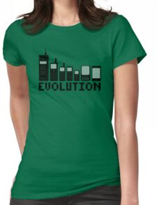 Cell Phone Evolution Womens Fitted T-Shirt