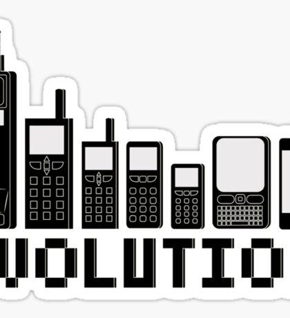 Cell Phone Evolution Sticker