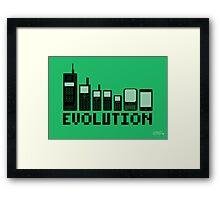 Cell Phone Evolution Framed Print