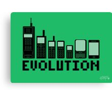 Cell Phone Evolution Canvas Print