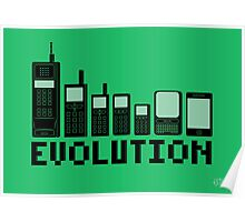 Cell Phone Evolution Poster