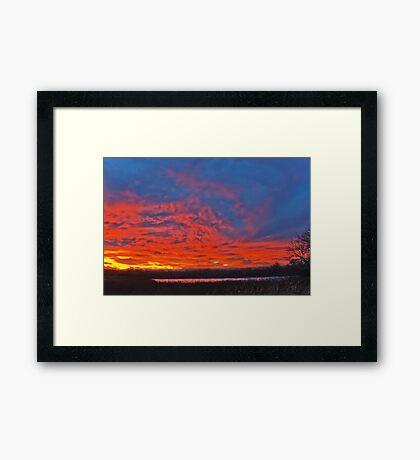 Sky aglow Framed Print