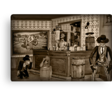 "☜ ☝ ☞ ☟ SALOON ""THE FIGHTING SIDE OF ME"" ☜ ☝ ☞ ☟  Canvas Print"