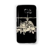 AH-64 Apache Helicopter Drawing Samsung Galaxy Case/Skin
