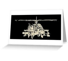 AH-64 Apache Helicopter Drawing Greeting Card
