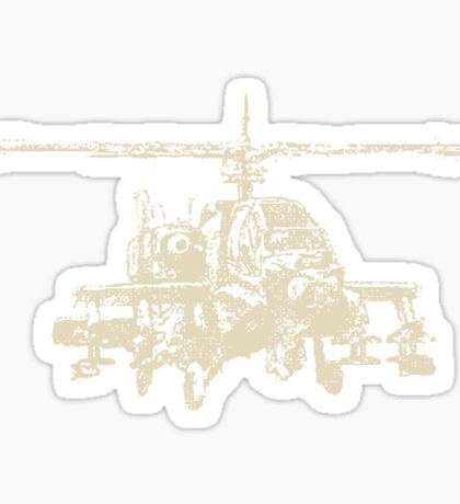 AH-64 Apache Helicopter Drawing Sticker