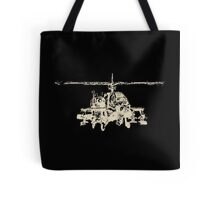 AH-64 Apache Helicopter Drawing Tote Bag