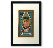 Benjamin K Edwards Collection Edward Sweeney New York Yankees baseball card portrait Framed Print