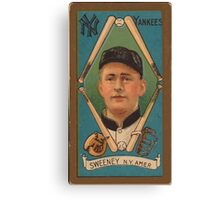 Benjamin K Edwards Collection Edward Sweeney New York Yankees baseball card portrait Canvas Print