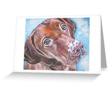 Vizsla Fine Art Painting Greeting Card