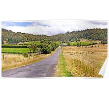 Road to Freycinet Vineyard Poster