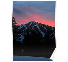Sunset - Baldy Mountain Poster