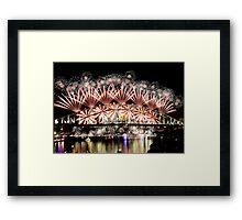 Sydney NYE 2012 Framed Print