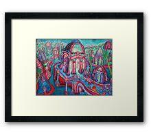 jukebox city Framed Print