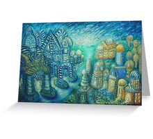 striped city Greeting Card