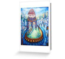 blue renaissance city Greeting Card