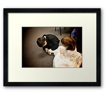 Buckles can be tough Framed Print