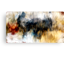 Abstract Colors Oil Painting #23 Canvas Print