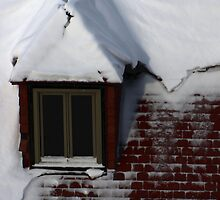 Snow covered dormer by AndreCosto