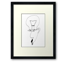 Burn Out (one-line #104) Framed Print