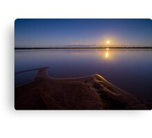 Full moon over Lake Broadwater Regional Park Canvas Print