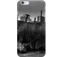 Face Sculpture At Mermaid Quay Cardiff Wales iPhone Case/Skin