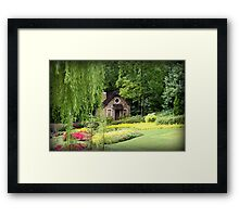 Lovely English Style Cottage In Orlando Florida Framed Print