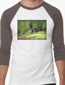 Lovely English Style Cottage In Orlando Florida Men's Baseball ¾ T-Shirt