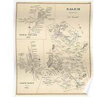 Vintage Map of Salem Massachusetts (1892) Poster