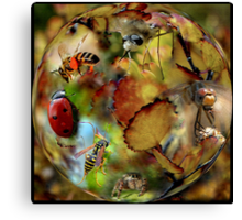 GETTING IN TOUCH WITH NATURE Canvas Print
