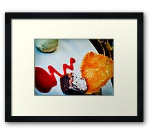 Sublime Chocolate and Almond Dessert Framed Print