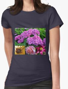 Hydrangea Collage with Cape Daisy, Rose and Tulip T-Shirt