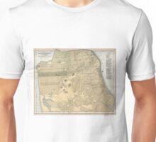 Vintage Map of San Francisco CA (1891) Unisex T-Shirt